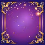 光亮的紫色卡片 图库摄影