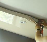 主要修理舒展天花板 免版税库存图片
