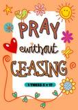Помолите без переставать Стоковое Изображение RF