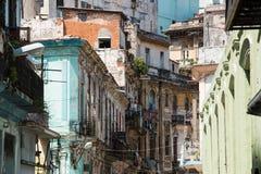 Οδοί στο κέντρο της πόλης Κούβα της Αβάνας Στοκ Εικόνα