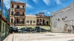 Τέχνη οδών κοριτσιών ονείρου της Αβάνας Κούβα Στοκ φωτογραφίες με δικαίωμα ελεύθερης χρήσης