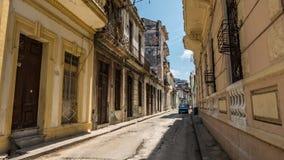 哈瓦那街透视 免版税图库摄影