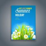 享受热的夏天模板 库存图片