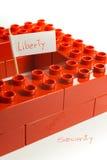在自由和安全之间的反对 免版税图库摄影