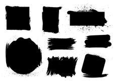画笔脏的集 免版税库存照片