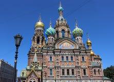 教会救主血液基督圣彼德堡俄罗斯 免版税库存图片