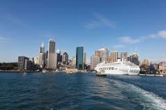 悉尼澳大利亚-环形码头 免版税库存图片