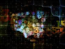 Распространение решетки цифров Стоковая Фотография RF