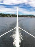 轮渡的船尾 免版税库存照片