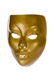 смотрите на золотистую маску Стоковые Изображения