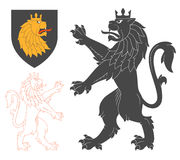 黑狮子例证 库存照片