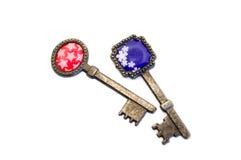 Старые декоративные ключи Стоковые Изображения