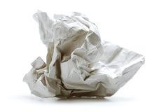 скомканная бумага Стоковые Фотографии RF