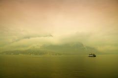 科莫湖,意大利 库存照片