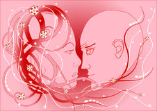 She and he Royalty Free Stock Images