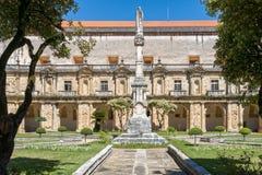 圣克拉拉修道院在科英布拉,葡萄牙 库存图片