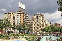 阿尔塔米拉的全景 加拉加斯,委内瑞拉 免版税库存照片