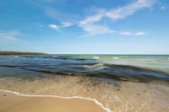 Ρύπανση και αφρός θάλασσας Στοκ Εικόνες
