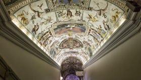 梵蒂冈博物馆,梵蒂冈的内部和细节 免版税库存图片