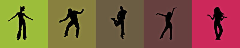 партия танцоров Стоковые Изображения RF