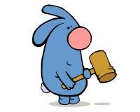 恼怒的兔子 免版税图库摄影