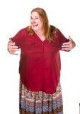 Женщина трансгендерного в показывать ожерелья жемчуга Стоковая Фотография RF