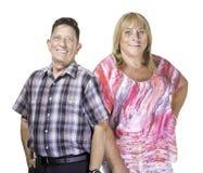 Усмехаясь человек и женщина трансгендерного Стоковое фото RF