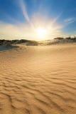 δυναμική υψηλή άμμος σειράς αμμόλοφων Στοκ Εικόνα