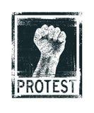 Плакат протеста вектор Стоковые Изображения RF