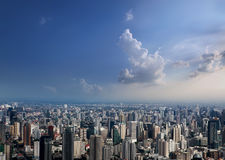 曼谷市鸟瞰图 免版税库存照片