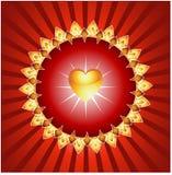 φωτεινή καμμένος καρδιά αν&a Στοκ Φωτογραφία