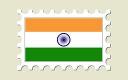 γραμματόσημο της Ινδίας σημαιών Στοκ Εικόνα