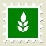 γραμματόσημο σημαδιών πράσινων φυτών Στοκ Φωτογραφίες