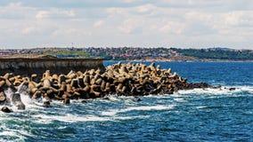海景在索佐波尔 免版税库存照片