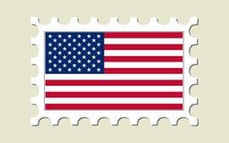 γραμματόσημο ΗΠΑ σημαιών Στοκ φωτογραφία με δικαίωμα ελεύθερης χρήσης