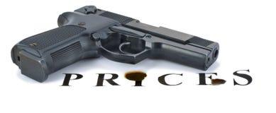 倾斜的手枪登记 免版税库存照片