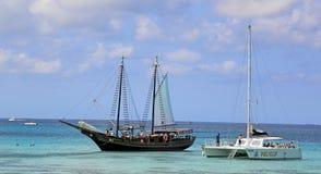 阿鲁巴一个愉快的海岛 库存图片