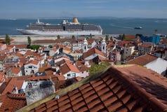 里斯本口岸,葡萄牙 库存图片