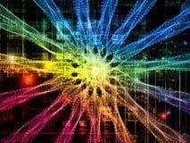 Случайные виртуальные формы Стоковое фото RF