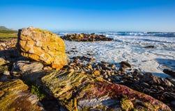 海洋海浪在大西洋 免版税库存图片