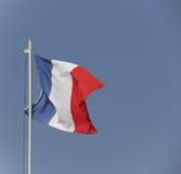旗子法国漂浮 免版税库存照片