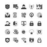 互联网安全被设置的黑色象 库存照片