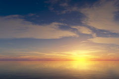 镇定在日出的海洋 免版税图库摄影