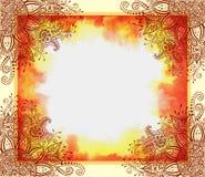 Цветочный узор на картине акварели Стоковое Изображение