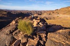 摩洛哥的干燥小山 免版税库存照片