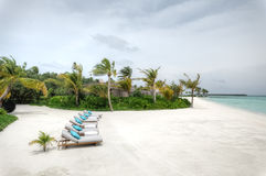 马尔代夫的常去之岛 库存照片