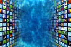 巨型多媒体墙壁 免版税库存照片