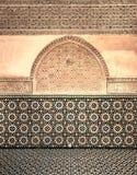 摩洛哥葡萄酒瓦片背景 免版税库存照片