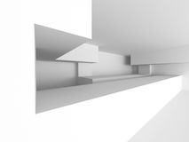 白色未来派混乱抽象建筑学背景 免版税库存照片