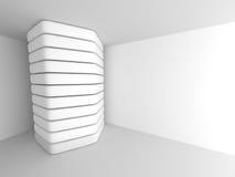 抽象未来派建筑学白色背景 免版税库存图片